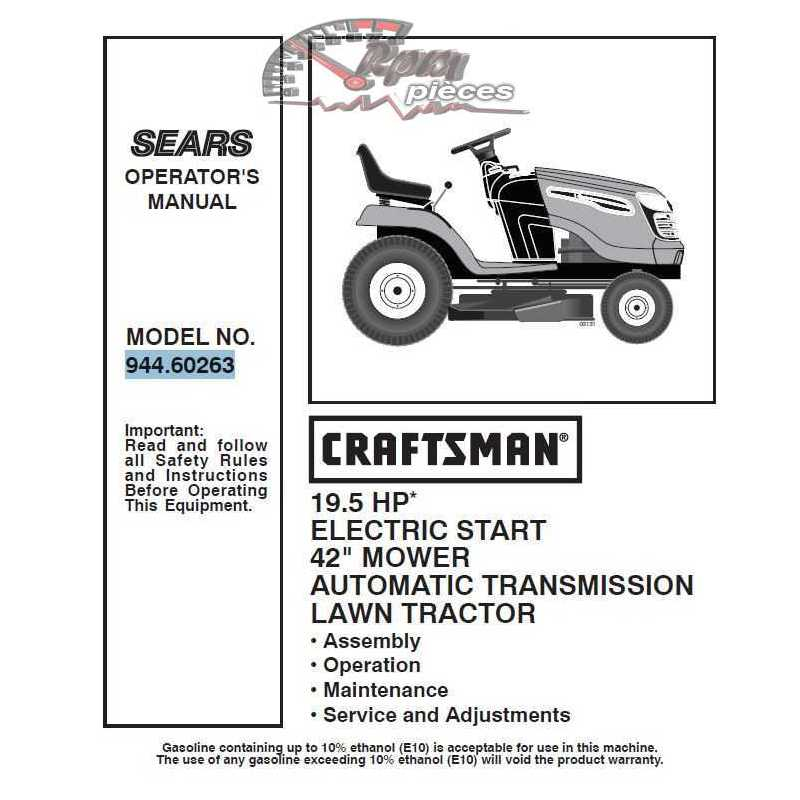 craftsman tractor parts manual 944 60263
