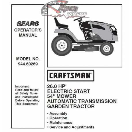 Craftsman Tractor Parts Manual 944.60269