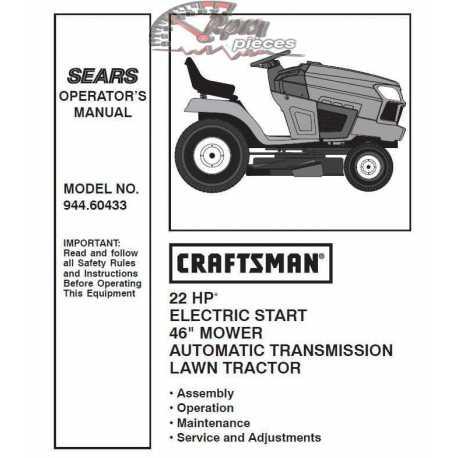 Craftsman Tractor Parts Manual 944.60433
