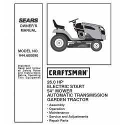 Craftsman Tractor Parts Manual 944.600090