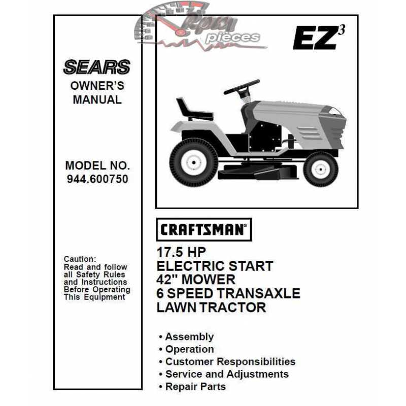 craftsman tractor parts manual 944 600750 rh rpmpieces com sears lawn tractor parts list Sears Lawn Tractor Belt Diagram