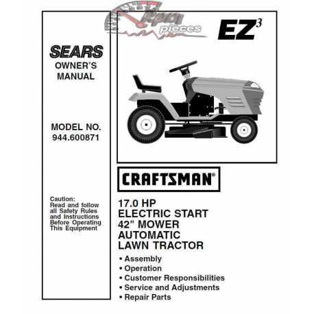 Craftsman Tractor Parts Manual 944.600871