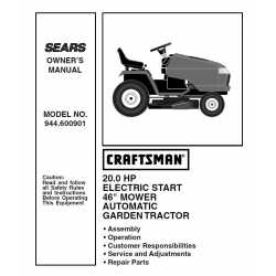 Craftsman Tractor Parts Manual 944.600901