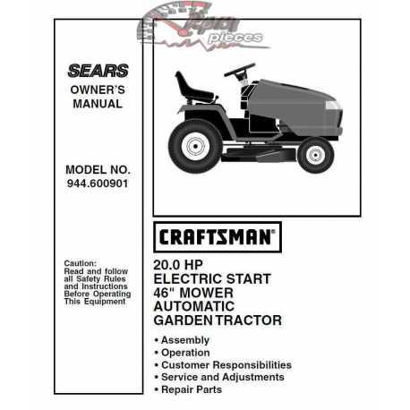 Craftsman Tractor Parts Manual 944.600901