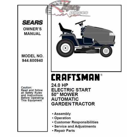 Craftsman Tractor Parts Manual 944.600940