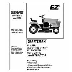 Craftsman Tractor Parts Manual 944.600950