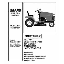 Craftsman Tractor Parts Manual 944.601051