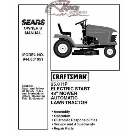 Craftsman Tractor Parts Manual 944.601051