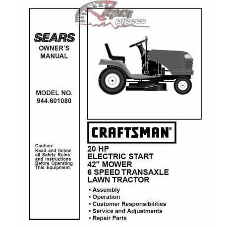Craftsman Tractor Parts Manual 944.601080