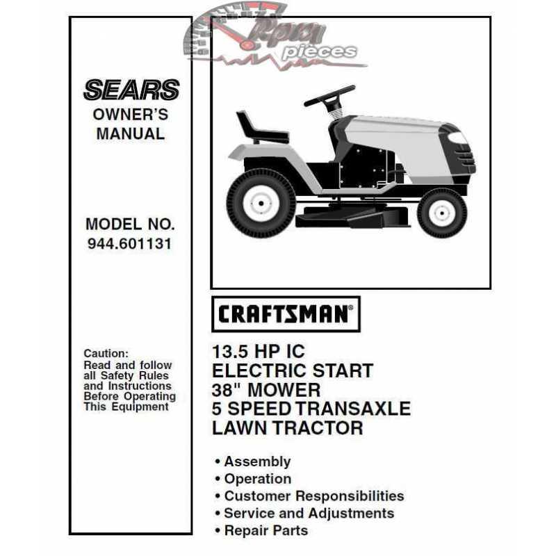 Craftsman Tractor Parts Manual 944 601131