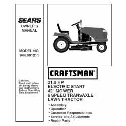 Craftsman Tractor Parts Manual 944.601211