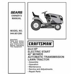 Craftsman Tractor Parts Manual 944.601250