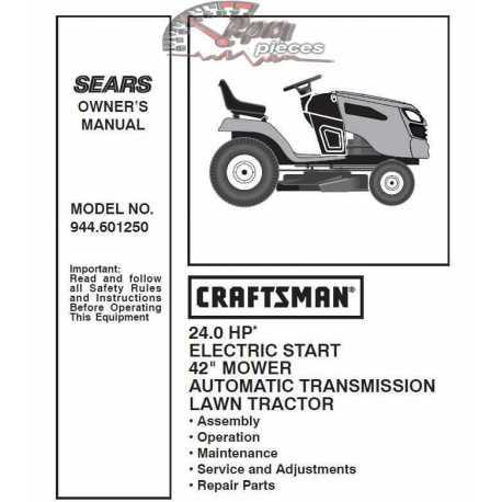 Craftsman Tractor Parts Manual 944.601250
