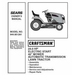 Craftsman Tractor Parts Manual 944.601261