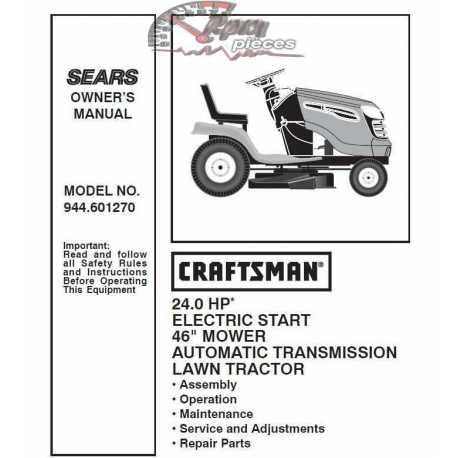 Craftsman Tractor Parts Manual 944.601270