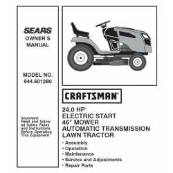Craftsman Tractor Parts Manual 944.601280