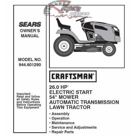 Craftsman Tractor Parts Manual 944.601290