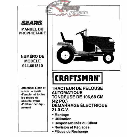 Craftsman Tractor Parts Manual 944.601380