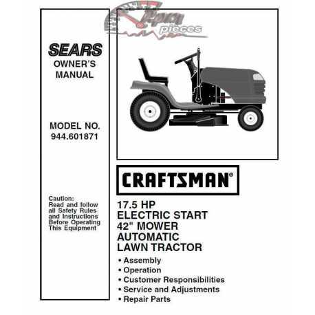 Craftsman Tractor Parts Manual 944.601871