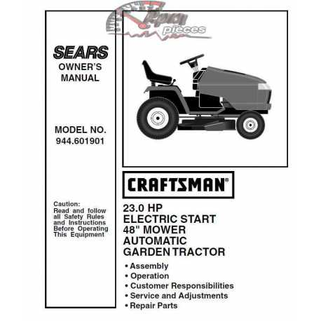 Craftsman Tractor Parts Manual 944.601901