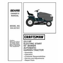 Craftsman Tractor Parts Manual 944.601931