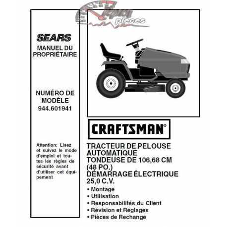 Craftsman Tractor Parts Manual 944.601941
