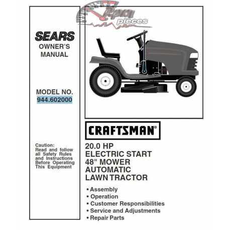 Craftsman Tractor Parts Manual 944.602000