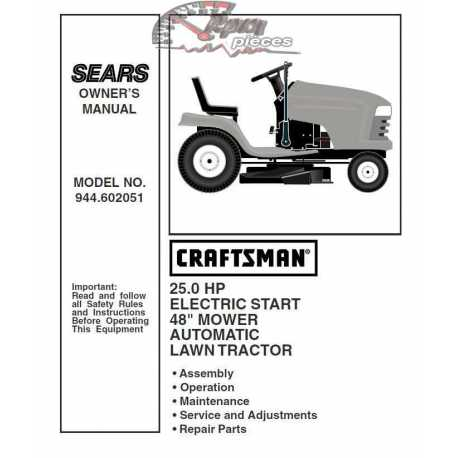 Craftsman Tractor Parts Manual 944.602051