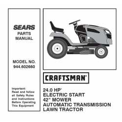 Craftsman Tractor Parts Manual 944.602660