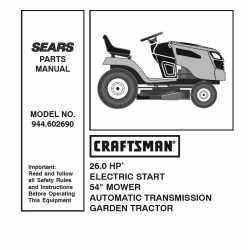 Craftsman Tractor Parts Manual 944.602690