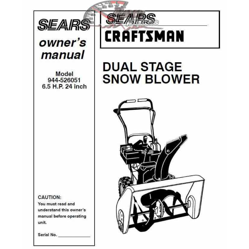 craftsman snowblower parts manual 944