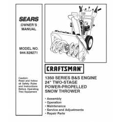 Craftsman snowblower Parts Manual 944.528271