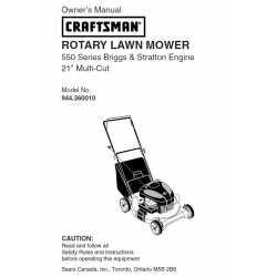 Craftsman lawn mower parts Manual 944.360010
