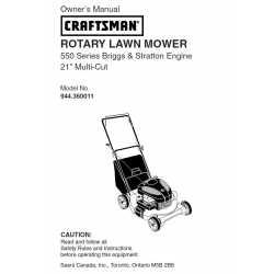 Craftsman lawn mower parts Manual 944.360011