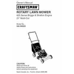 Craftsman lawn mower parts Manual 944.360020