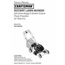 Craftsman lawn mower parts Manual 944.360040