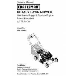 Craftsman lawn mower parts Manual 944.360060