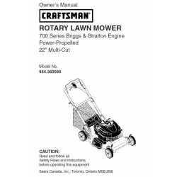 Craftsman lawn mower parts Manual 944.360080