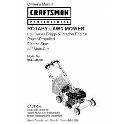 Craftsman lawn mower parts Manual 944.360090