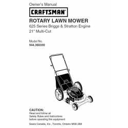 Craftsman lawn mower parts Manual 944.360330