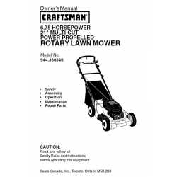 Craftsman lawn mower parts Manual 944.360340