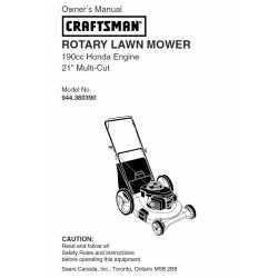 Craftsman lawn mower parts Manual 944.360390