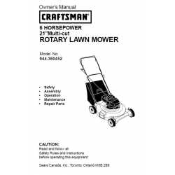 Craftsman lawn mower parts Manual 944.360452