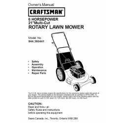 Craftsman lawn mower parts Manual 944.360441