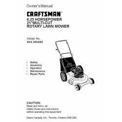 Craftsman lawn mower parts Manual 944.360480