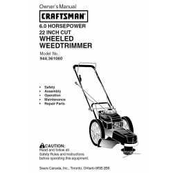 Craftsman lawn mower parts Manual 944.361060