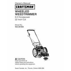 Craftsman lawn mower parts Manual 944.361063