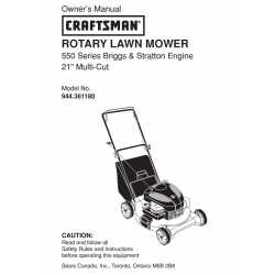 Craftsman lawn mower parts Manual 944.361180