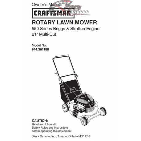 Craftsman lawn mower parts Manual 944.361180