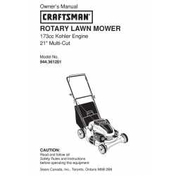 Craftsman lawn mower parts Manual 944.361201